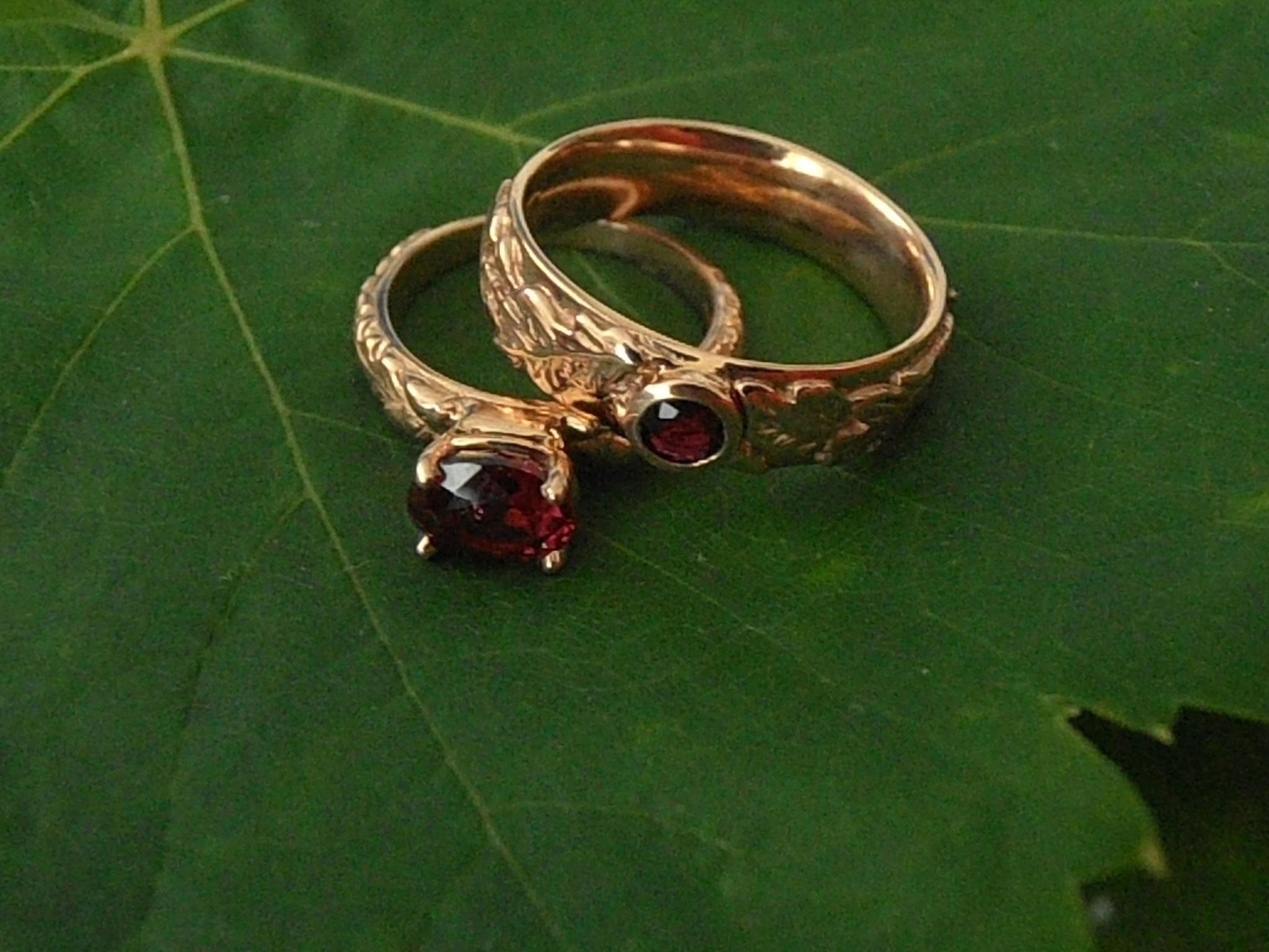 Rings Wedding Acorn Oak Leaf Click For Larger View